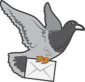 white pigeon; pigeon house; carrier pigeon ...