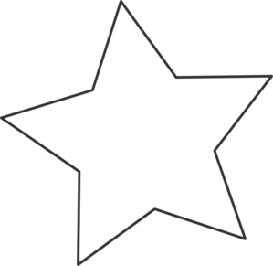 White Star Black Clip Art At Clker Com Vector Clip Art Online