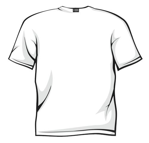 White T Shirt Back