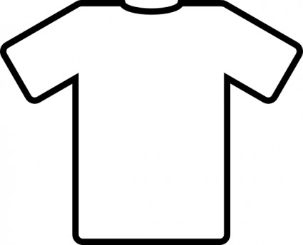 White T Shirt clip art Free vector in Open office drawing svg