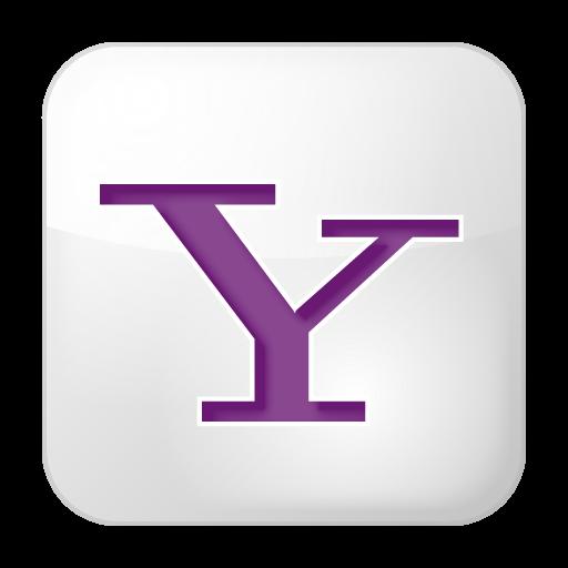 White Yahoo Square Icon, .