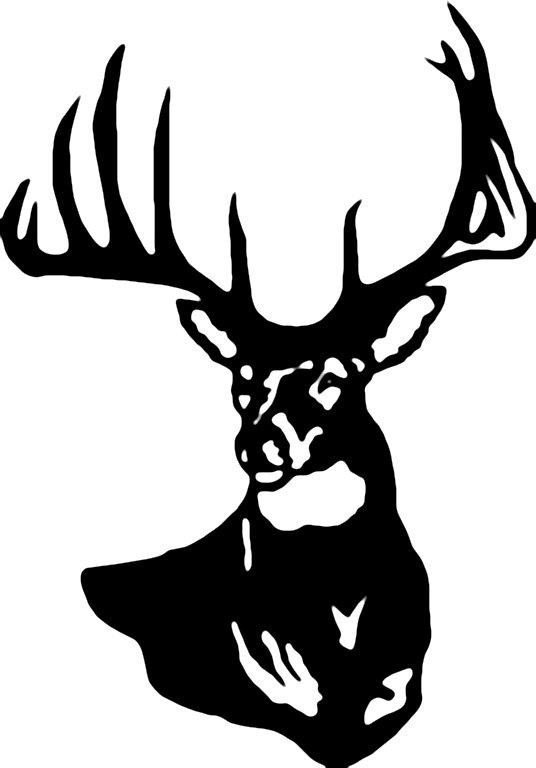 Whitetail deer head clipart - ClipartFest