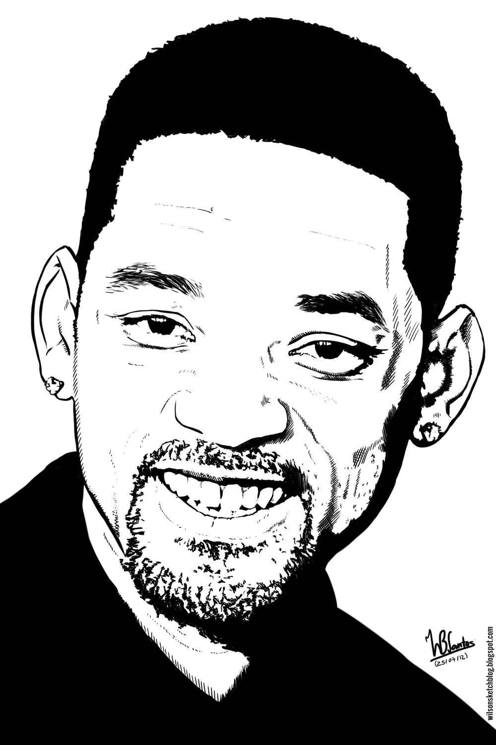 Drawn caricature will smith #14