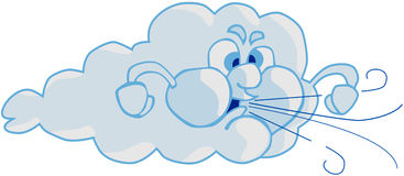 Wind and Cloud Stock Photography