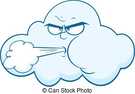 . Hdclipartall.com Cloud With Face Blowing Wind Cartoon Mascot Character.