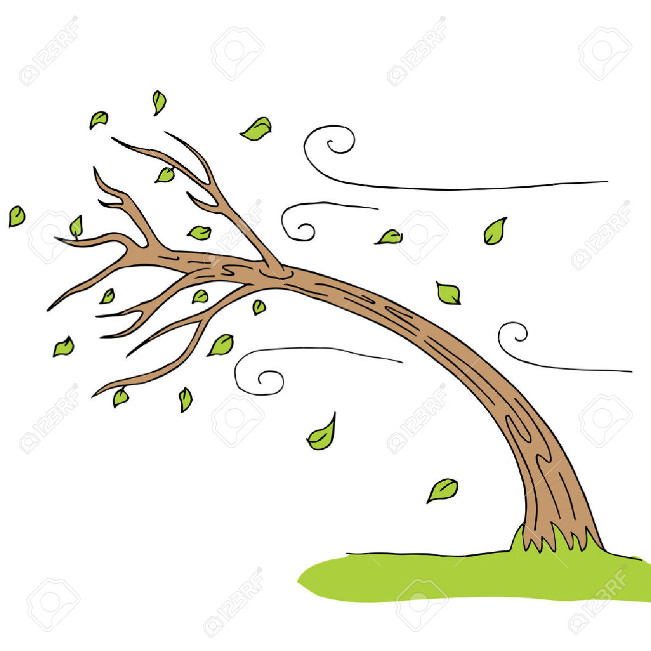 Tree clipart wind blowing #3 - Wind Clipart
