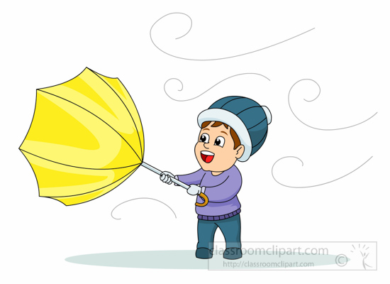 umbrella-blowing-in-wind-116- - Wind Clipart