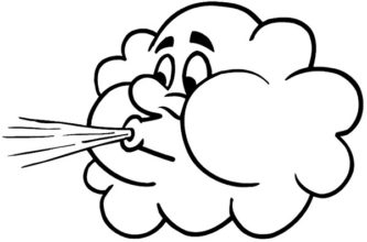 Wind clipart cute #7