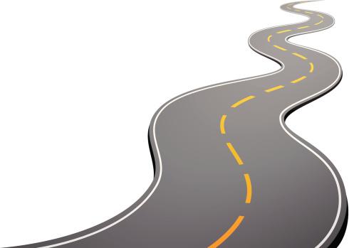 Winding Road Clip Art. Road vector art illustration