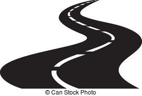 Winding Road Clip Art - .