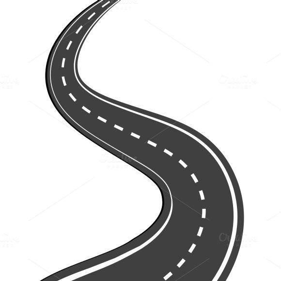 Winding Road Illustrations On Creative Market