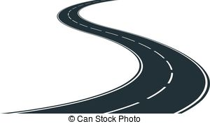 ... winding road - isolated winding road - clip art illustration