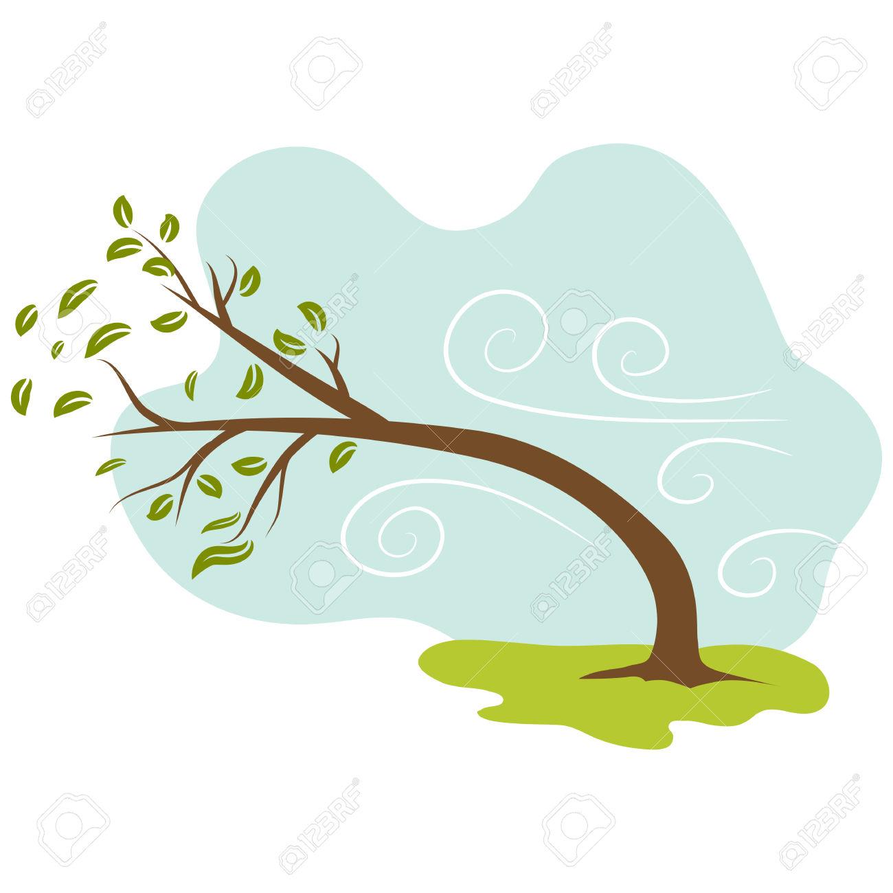 Tree clipart windy #1
