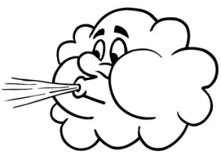 Windy clipart 6