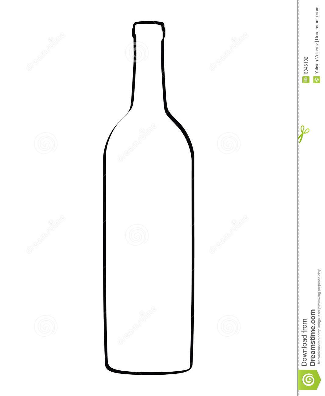 Wine Bottle Outline Clipart