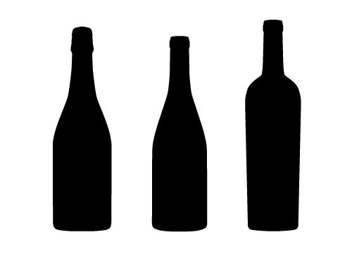 Wine Bottle Silhouette Clipart