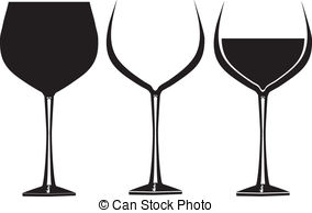 Black clipart wine glass #7