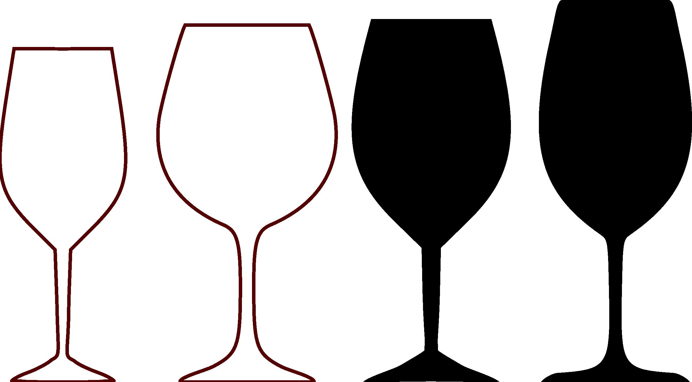 Elegant Wine Glass Clipart #1