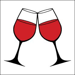 Wine Glass Toast Clipart #1