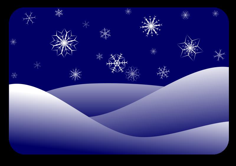 winter scenery Clipart
