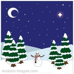 Winter Scenes Clipart #1