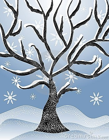 winter trees clipart
