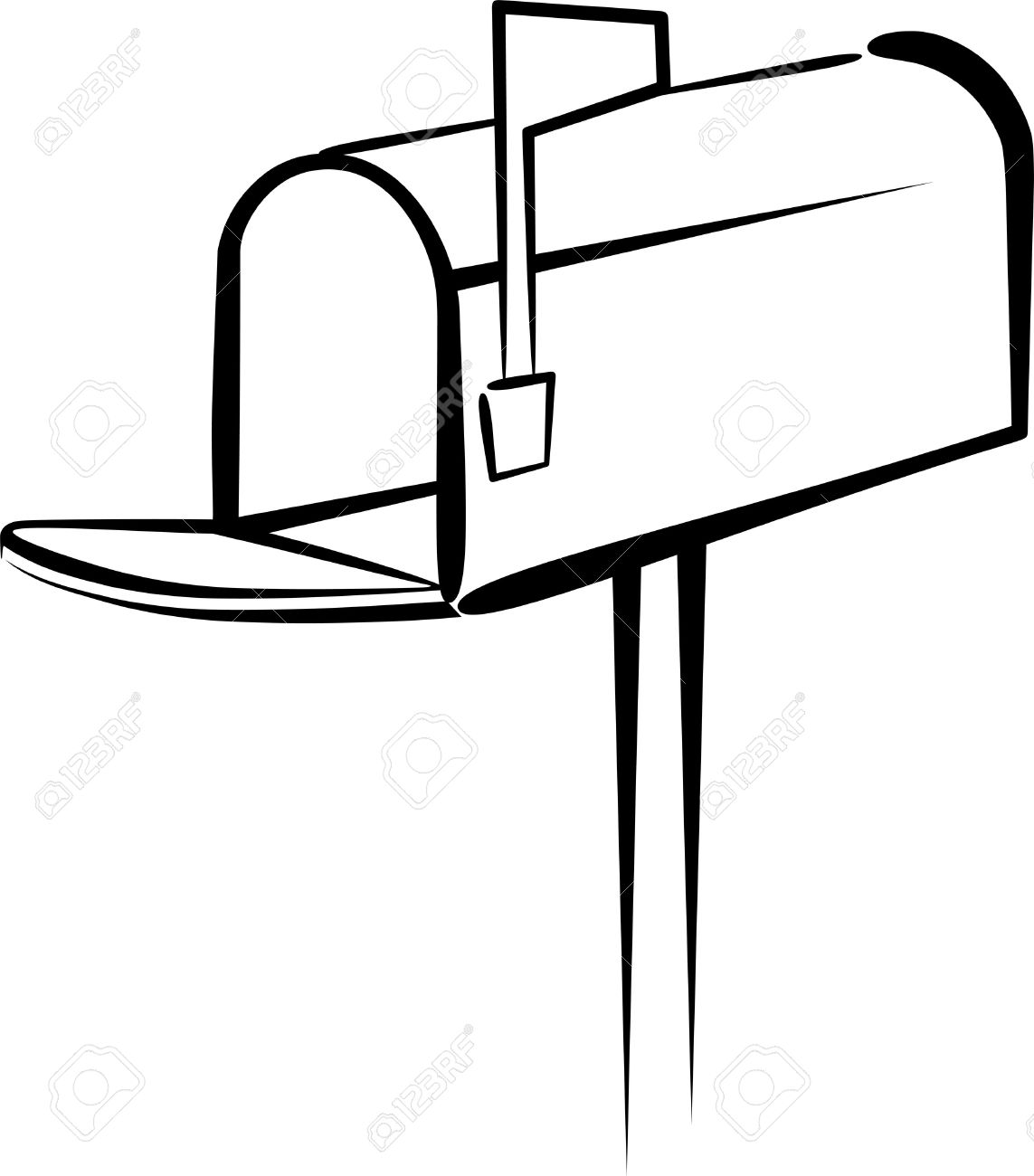 with a mailbox