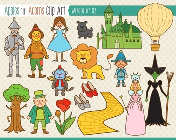 Wizard of Oz Clip Art - color - Wizard Of Oz Clipart