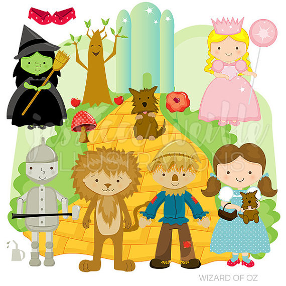 Wizard of Oz Cute Digital Clipart for Commercial or Personal Use, Wizard of Oz  Clipart, Wizard of Oz Graphics