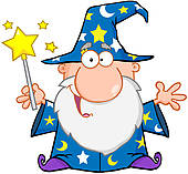 Wizard with staff u0026middot; Funny Wizard Waving With Magic Wand