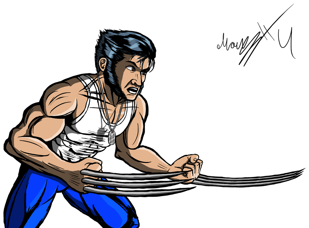Hugh Jackman as Wolverine / Logan Clip Art by MarioUComics hdclipartall.com