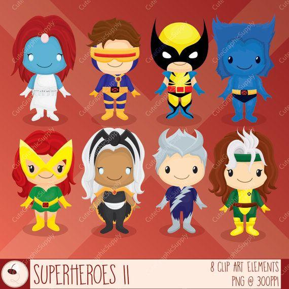 Superhero clipart, super hero clipart, superhero clip art, wolverine clipart,  xmen clipart, x men, comic clipart, INSTANT Wolverine Clipart -LN075-