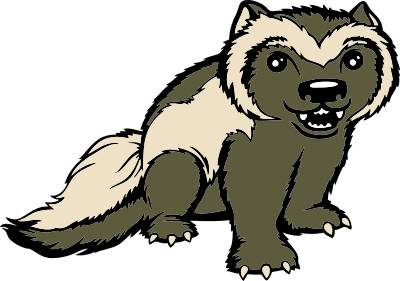 Wolverine Animal Clipart #1
