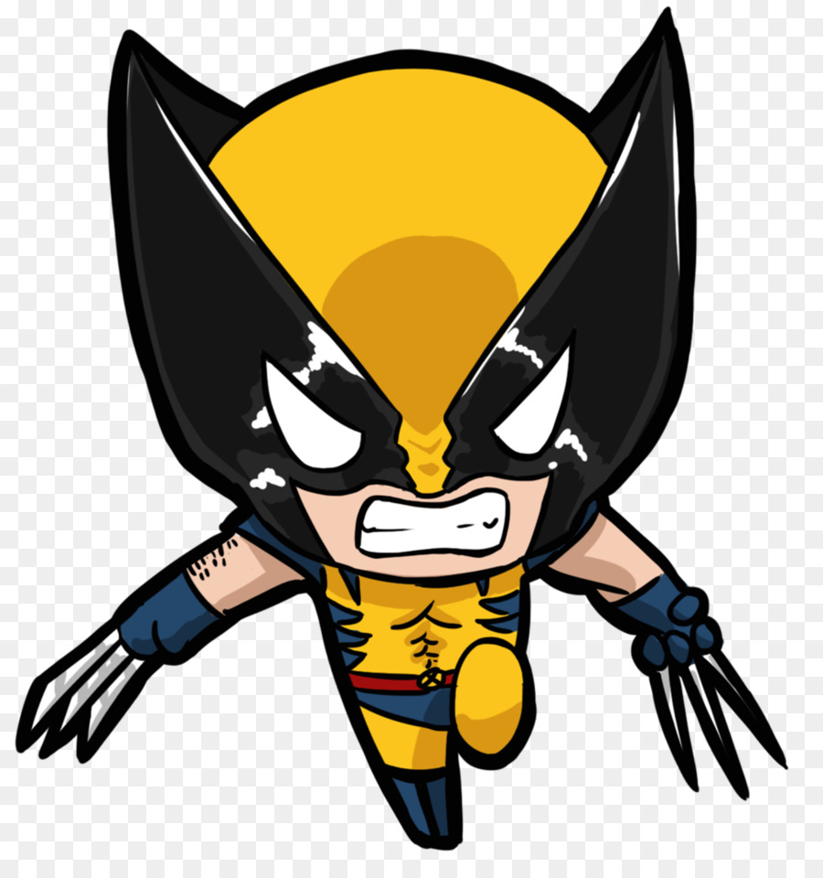 Wolverine Deadpool Drawing Chibi X-Men - Cliparts Man Wolverine