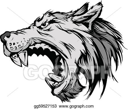 Abstract Wolf · Wolf Mascot Head Vector Cartoon
