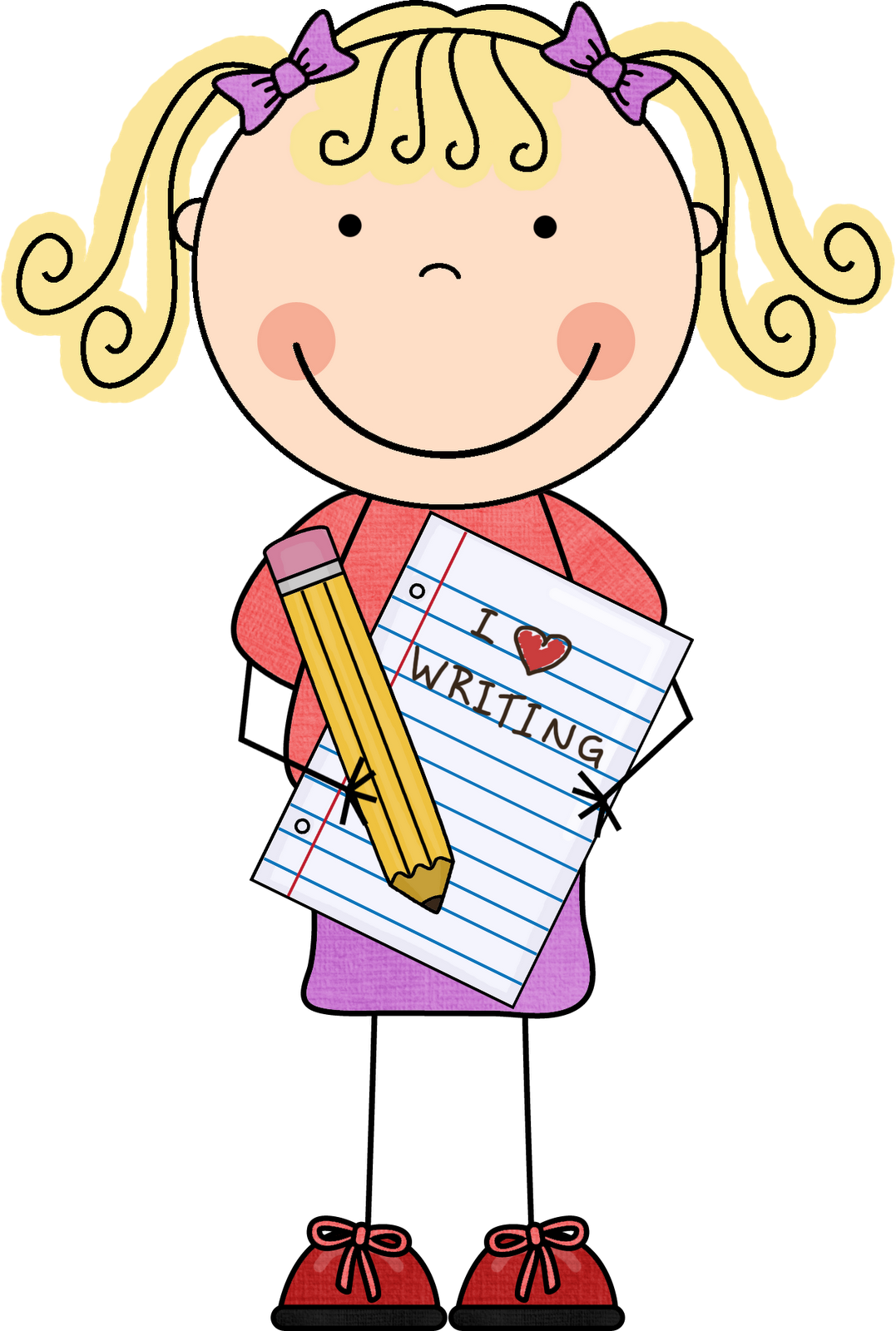woman writing clipart