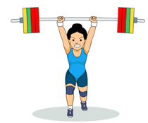 Woman Lifts Weights For Strength Training Clipart Size: 73 Kb