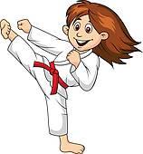... woman martial arts ...