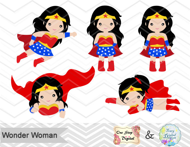 This is a digital file - Wonder Woman Clipart