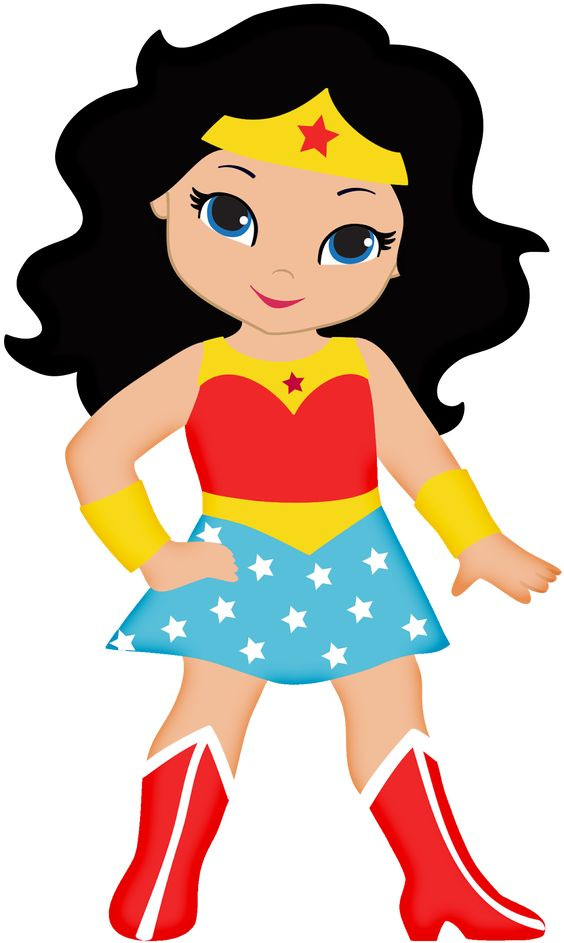 Wonder Woman Baby Clipart. | Oh My Fiesta! For Geeks