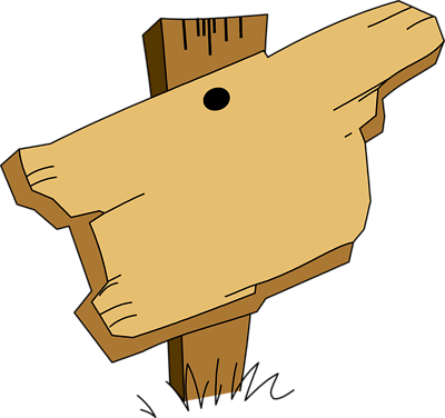 Wooden Sign Clipart - .