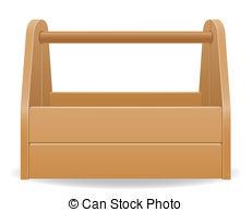 ... wooden tool box illustration isolated on white background