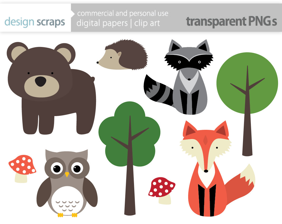 woodland animal clip art graphics forest animals by designscraps, $3.50 | Baby Nolan | Pinterest | Clip art, Graphics and Google