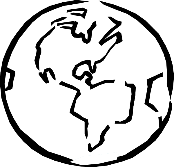 Black And White Earth Clip Ar - World Clipart Black And White