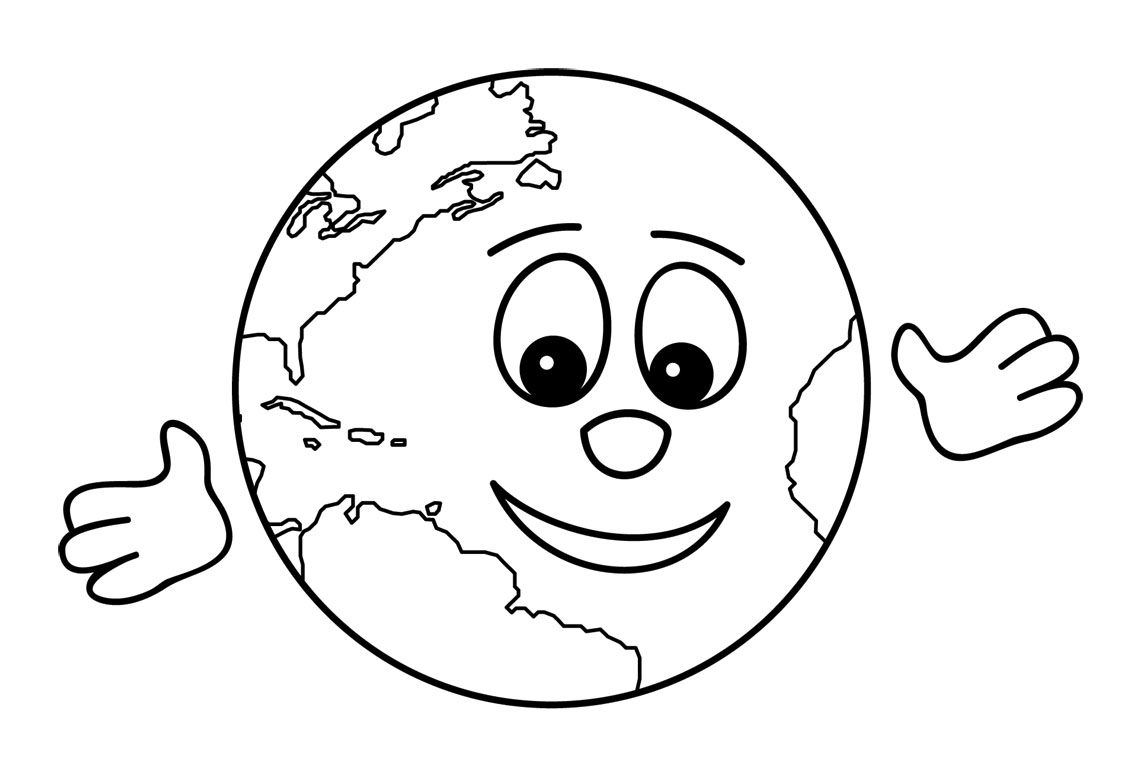 Drawn child the world clipart black and white #2