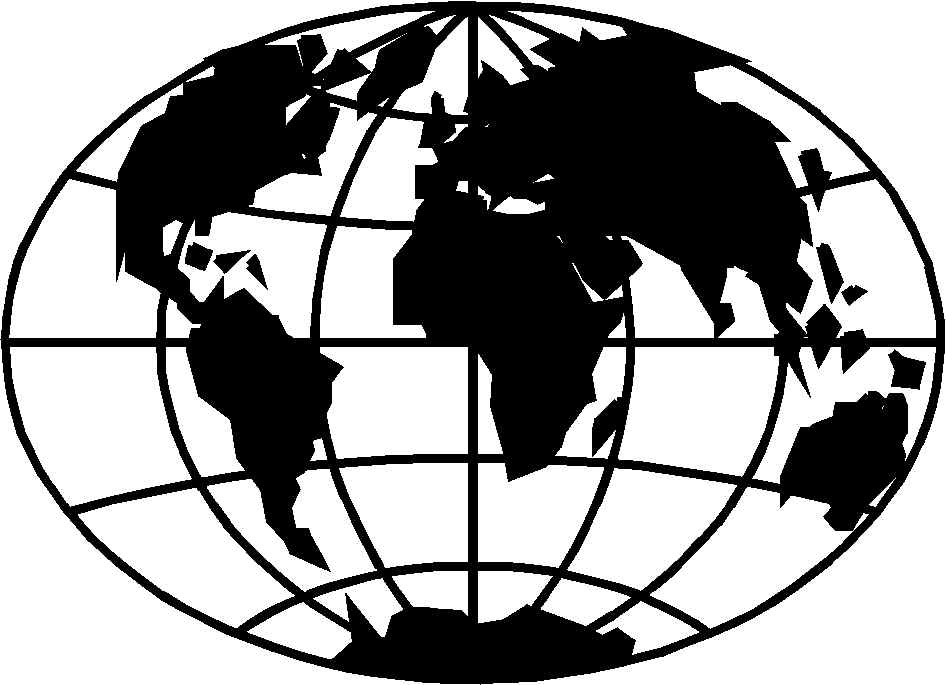 globe black and white globe b - World Clipart Black And White
