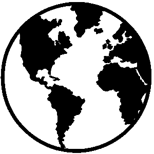 Globe black and white world f - World Clipart Black And White