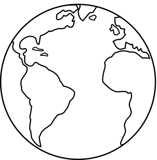 World Black And White Earth Clipart