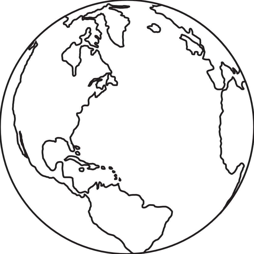 World black and white earth clipart free images 4