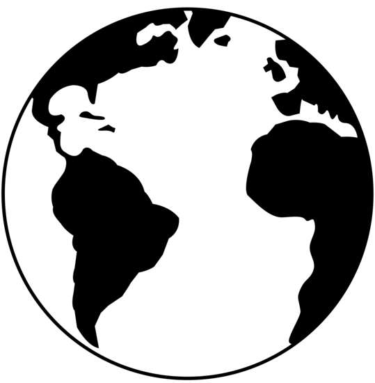 World black and white globe c - World Clipart Black And White